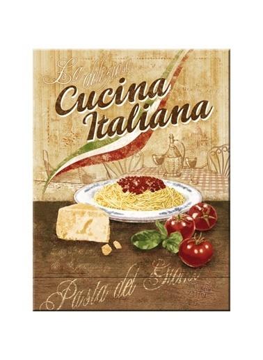Nostalgic Art Cucina Iıaliana Magnet 6x8 cm Renkli
